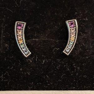 Authentic Pandora Rainbow Earrings